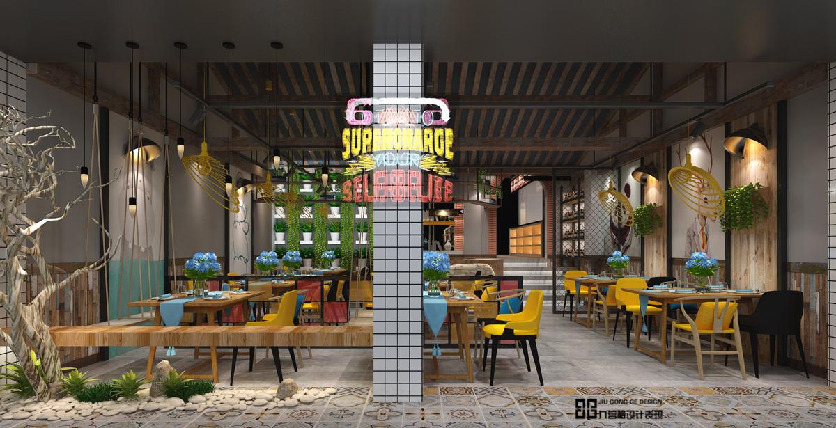 包間裝修效果圖 ( )  > 訂單編號:jiugongge439 設計主題:美蛙餐廳
